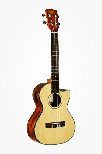 Kala Brand Music Co. KA-STGE-C Solid Spruce Mahogany Tenor Cutaway with EQ KA-STGE-C
