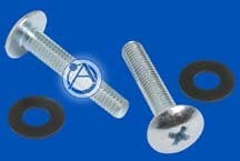 Atlas Sound HK40 40 count #10-32 phillips head chrome screws and 40 plastic washers HK40
