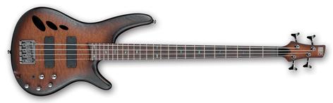 Ibanez SR30TH4-NNF SR Standard 4 String Electric Bass - Natural Browned Burst Flat SR30TH4NNF