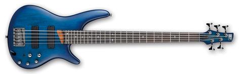Ibanez SR505-SBF SR Standard 5 String Electric Bass - Sapphire Blue Flat SR505SBF