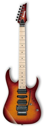 Ibanez RG657MSK RG Prestige 6-String Electric Guitar with Case - Sunset Burst RG657MSKSTB