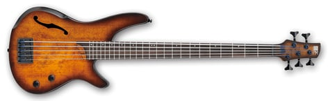 Ibanez SRH505-DEF SR Bass Workshop 5 String Electric Bass - Dragon Eye Burst Flat SRH505DEF