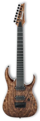 Ibanez RGAIX7U RGA Iron Label 6-String Electric Guitar - Antique Brown Stained RGAIX7UABS