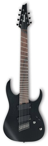 Ibanez RGIM7MH RG Iron Label Multi-Scale 7-String Electric Guitar  - Weathered Black RGIM7MHWK