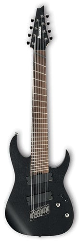 Ibanez RGIM8MH RG Iron Label Multi Scale 8-String Electric Guitar - Weathered Black RGIM8MHWK