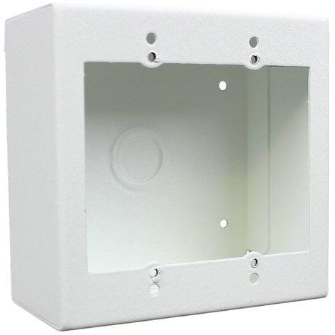 FSR SMWB-2G-WHT 2 Gang Surface Mount Wall Box, White SMWB-2G-WHT