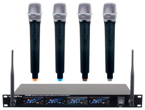 VocoPro UHF-5816  Professional Four Channel UHF Wireless Mic System  UHF-5816