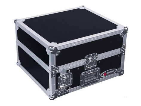 Odyssey FZ1002  Pro Combo Rack Flight Case with 10RU Top Slanted Rack & 2RU Bottom Vertical Rack FZ1002