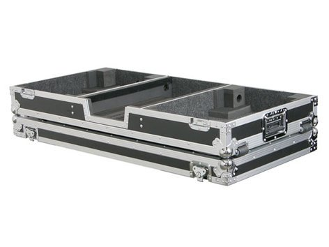 "Odyssey FZBM12W  Universal DJ Coffin Case with Wheels, Holds a 12"" Format DJ Mixer & 2 Turntables in Battle Position FZBM12W"