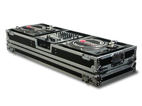 """Odyssey FZDJ12W  Universal DJ Coffin Case with Wheels, Holds a 12"""" Format DJ Mixer & 2 Turntables in Standard Position FZDJ12W"""