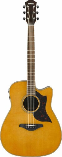 Yamaha A1R-VN Vintage Natural Acoustic-Electric Cutaway Folk Guitar A1R-VN
