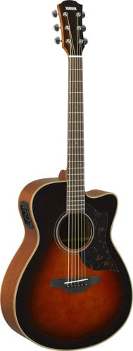 Yamaha AC1M-TBS Tobacco Brown Suburst Small Body Cutaway Acoustic-Electric Guitar AC1M-TBS