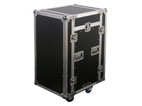 Odyssey FZSRP1112W  Space Saver Combo Rack with Wheels, 11RU Top Slanted Rack, and 12RU Bottom Vertical Rack FZSRP1112W