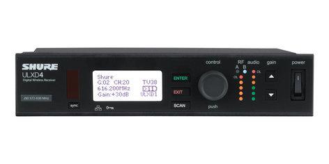 Shure ULXD4-G50 Digital Wireless Receiver G50 Band ULXD4-G50