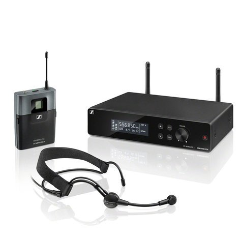 Sennheiser XS WIRELESS 2 HEADMIC SET Headworn Set Wireless System with BP Transmitter XSW2-ME3-A