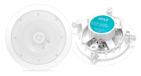 """Pyle Pro PWRC51  5.25"""" Weather Proof 2-Way In-Ceiling / In-Wall Speaker, Sold In Pairs PWRC51"""