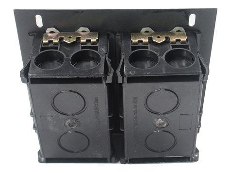 Elite Core Audio FB-QUAD-AC  Recessed Floor Box with Quad AC Outlets  FB-QUAD-AC