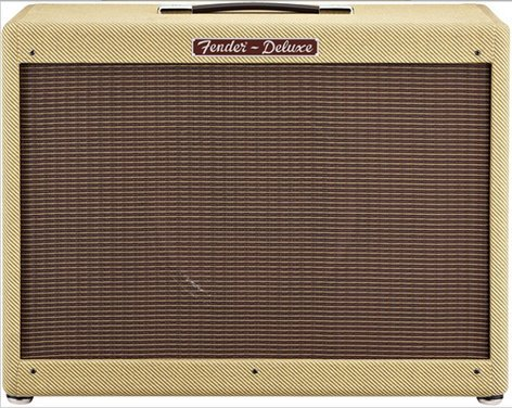 """Fender Hot Rod Deluxe 112 Enclosure Lacquered Tweed 1x12"""" 80W Guitar Speaker Cabinet with Fitted Cover and Speaker Cable HOT-ROD-112-LTWEED"""