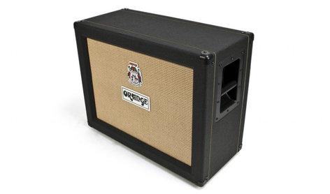 "Orange Amplification PPC212-C-BLACK 120W 2x12"" Closed-Back Guitar Speaker Cabinet with Celestion Vintage 30 Speakers in Black PPC212-C-BLACK"