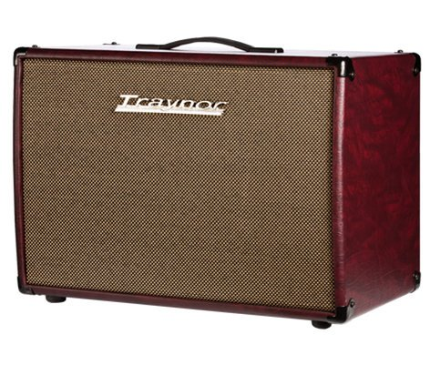 "Traynor YCX12WR Guitar Extension Cabinet, 1 x 12"" Celestion Vintage 30, 60 Watts, Wine Red Leatherette Covering and Oatmeal Grille YCX12WR"