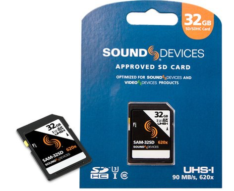 Sound Devices SAM-32SD  32GB SDHC Memory Card, 90MB/s Read and Write SAM-32SD