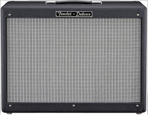 """Fender Hot Rod Deluxe 112 Enclosure 1x12"""" 80W Guitar Speaker Cabinet with Fitted Cover and Speaker Cable HOT-ROD-112"""