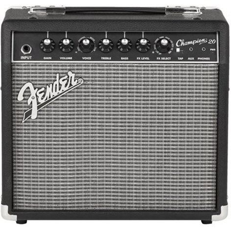 """Fender CHAMPION-20 Champion 20 20W 1x8"""" Solid-State Combo Electric Guitar Amplifier CHAMPION-20"""