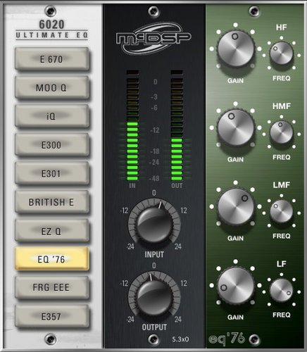 McDSP 6020 Ultimate EQ Native [EDU STUDENT/FACULTY] EQ Collection Native Plugin [DOWNLOAD] 6020-ULT-EQ-NAT-EDU