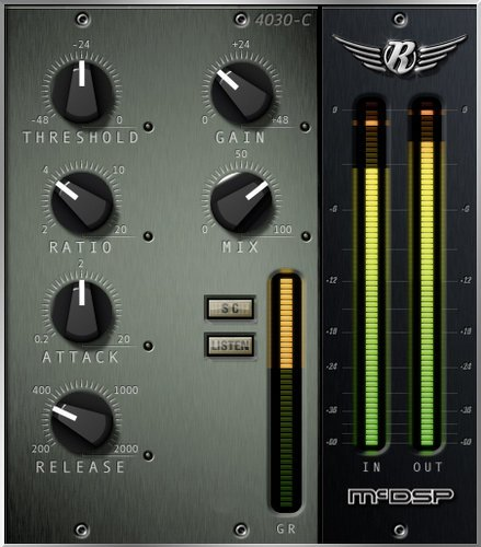 McDSP 4030 Retro Compressor Native [EDU STUDENT/FACULTY] Single-Channel Retro Compressor Plugin, AAX Native/AU/VST Version [DOWNLOAD] 4030-RET-COMP-NA-EDU
