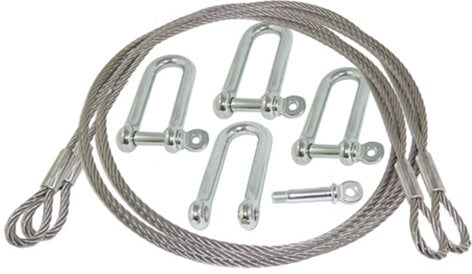 Octasound SPH2L-SS-06  6 ft Steel Wire Rope with Closed Looped Ends SPH2L-SS-06