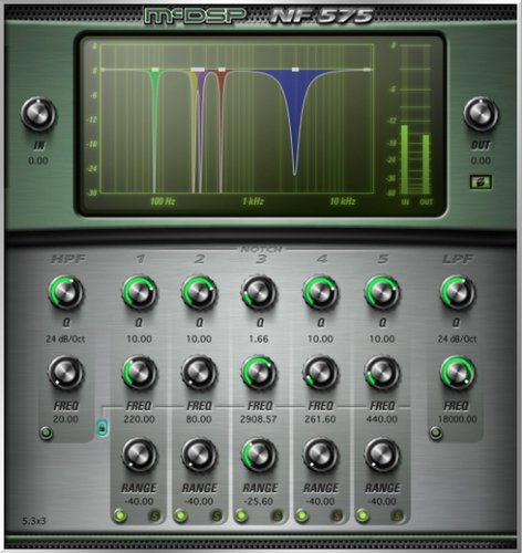 McDSP NF575 Native v6 [EDU STUDENT/FACULTY] Multi-Band Noise Filter Plug-in, AAX DSP/Native, AU, VST Version [DOWNLOAD] NF575-NATIVE-EDU
