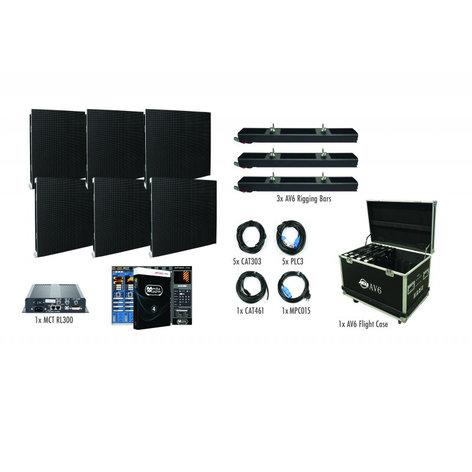 ADJ AVX3X2 3x2 AV6X Video Wall Package with 6 Panels AVX3X2