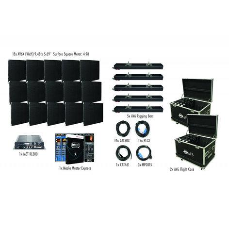 ADJ AVX5X3 5x3 AV6X Video Wall Package with 15 panels AVX5X3