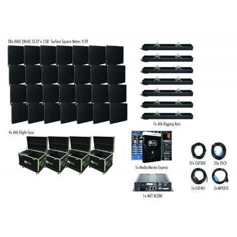 ADJ AVX7X4 7x4 AV6X Video Wall Package with 28 panels AVX7X4