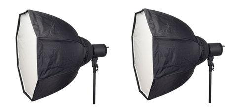 "Smith Victor Corp Cine-Flood LED 1500 2 Light Kit with 32"" OctaBox CFLED1500-2KIT"