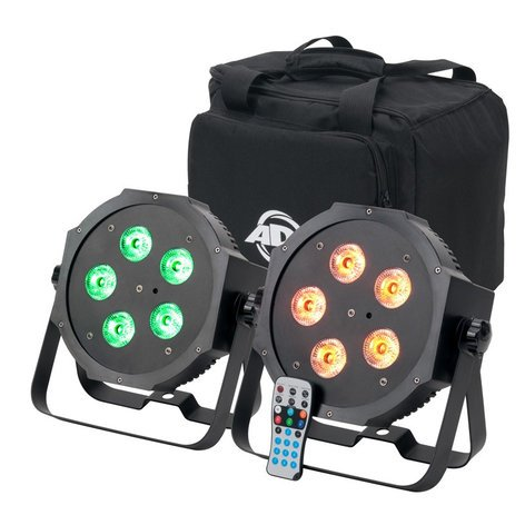 ADJ Mega 64 HEX Pak 2x Mega Par 64 Hex with Bag and IR Remote MEGA-64-HEX-PACK