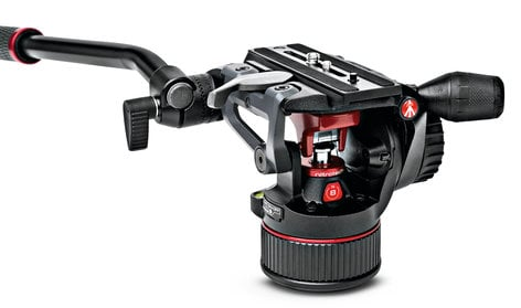 Manfrotto NITROTECH N8 Fluid Video Head with Nitrogen Piston Mechanism MVHN8AHUS