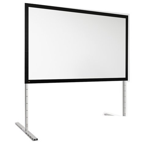 """Draper Shade and Screen 385138  198"""" FocalPoint 16:10 CineFlex Projection Screen with Black Frame 385138"""