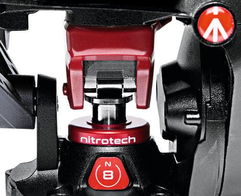 Manfrotto MVKN8CUS Nitrotech N8 & 535 Tripod Fluid Video Head and Carbon Fiber Video Tripod Kit MVKN8CUS