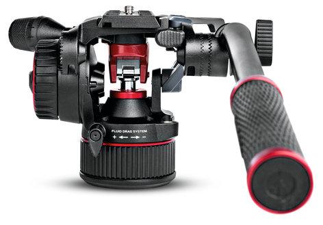 Manfrotto Nitrotech N8 & 546B Tripod Video Fluid Head and Aluminum Tripod Kit MVKN8TWINMUS