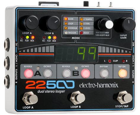 Electro-Harmonix 22500-Looper Dual Stereo Looper,  9.6DC-500 PSU Included 22500-Looper