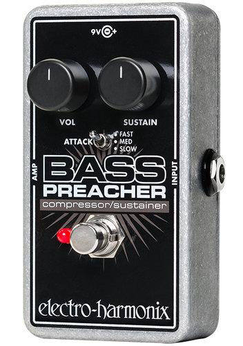 Electro-Harmonix BASS-PREACHER Bass Preacher Compressor/Sustainer Effect Pedal for Bass BASS-PREACHER