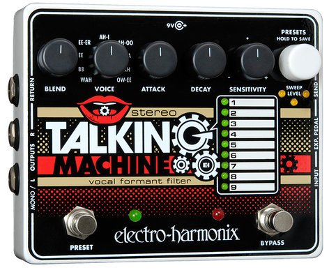 Electro-Harmonix Stereo-Talking-Machine Pedal Vocal Formant Filter STEREO-TALKING-MACHN