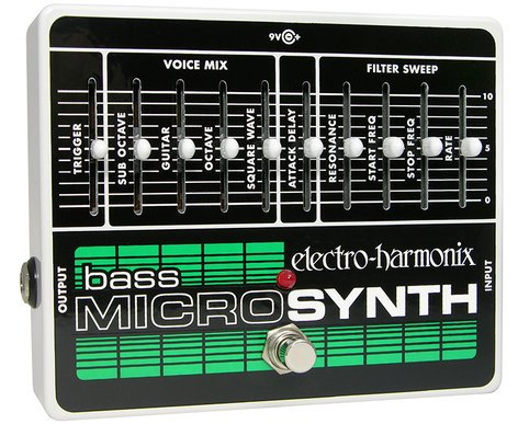 Electro-Harmonix BASS MICRO SYNTH Analog Microsynth for Bass, PSU Included BASSMICROSYNTH