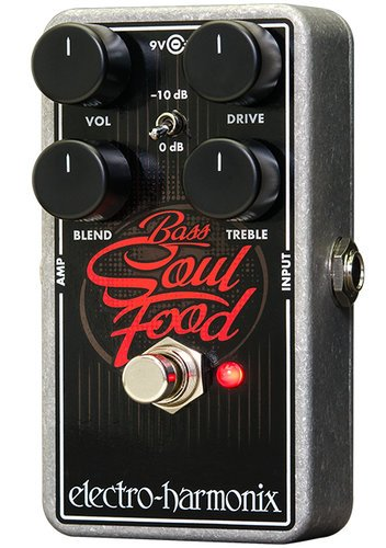 Electro-Harmonix Bass Soul Food Overdrive Electric Bass Effects Pedal BASS-SOUL-FOOD