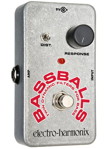 Electro-Harmonix BASSBALLS Twin Dynamic Envelope Filter Pedal with Distortion Switch BASSBALLS