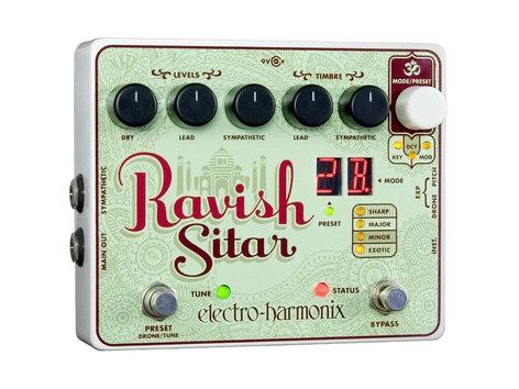 Electro-Harmonix RAVISH-SITAR-PEDAL Sitar Emulator Pedal for Guitar, PSU Included RAVISH-SITAR-PEDAL