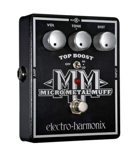 Electro-Harmonix MICRO METAL MUFF Metal Distortion with Top Boost MICROMETALMUFF