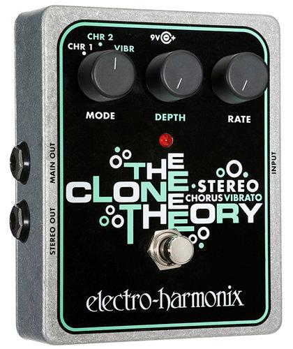 Electro-Harmonix STEREO CLONE THEORY Analog Chorus/Vibrato Pedal, Stereo Outputs STEREOCLONETHEORY