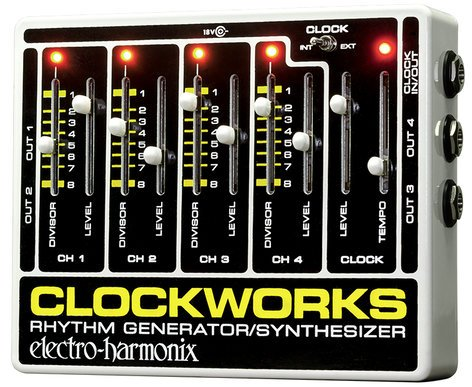 Electro-Harmonix Clockworks Master Clock Generator Effects Pedal CLOCKWORKS